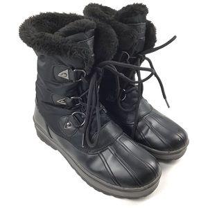 Nine West Black Faux Fur Winter Boots Sz 9 M